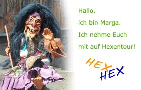 Hexenführung mit Hexe Marga unsere Marionette