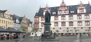 Coburger Marktplatz mit Blick auf das Stadthaus